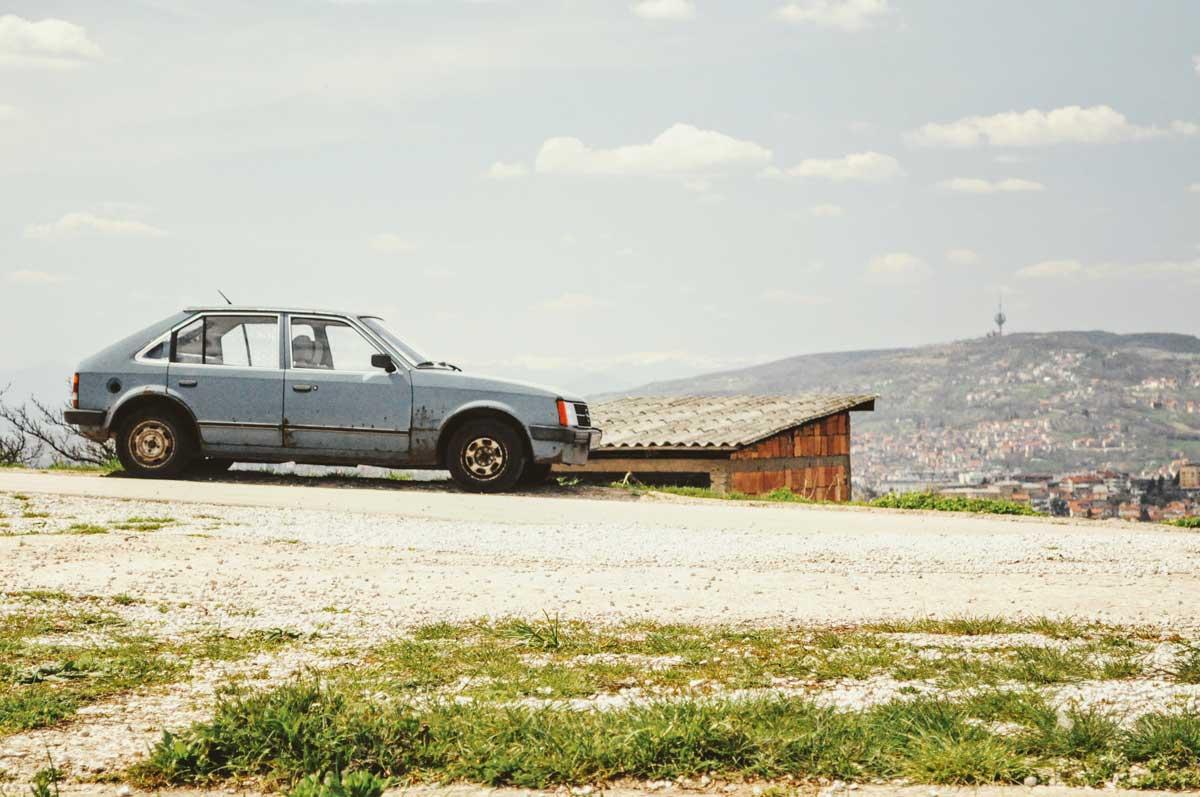 Hoch über Sarajevo