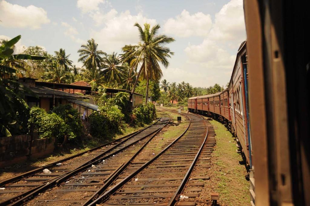 Zugfahren in Sri Lanka