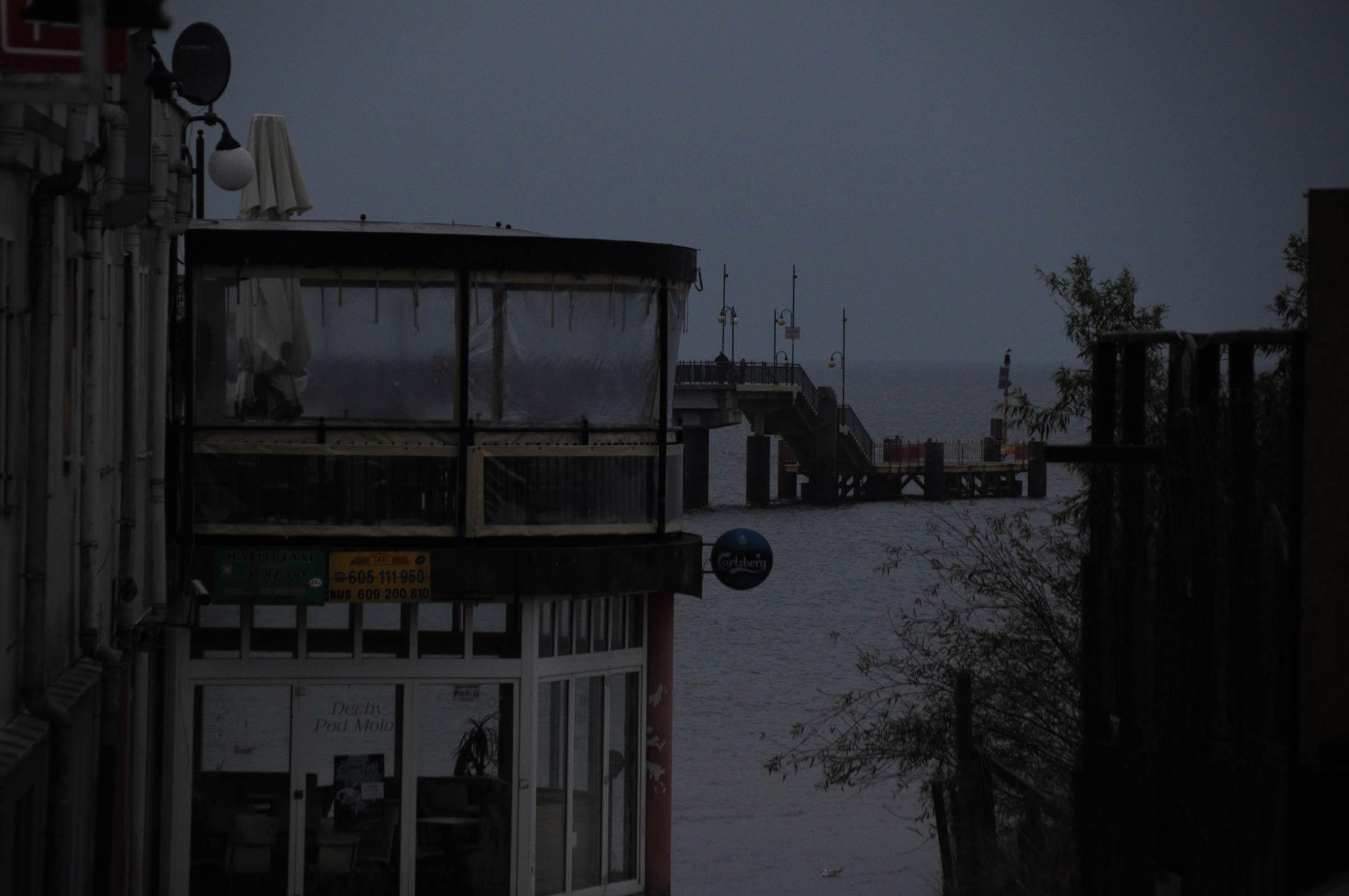 Am Strand von Misdroy in Polen