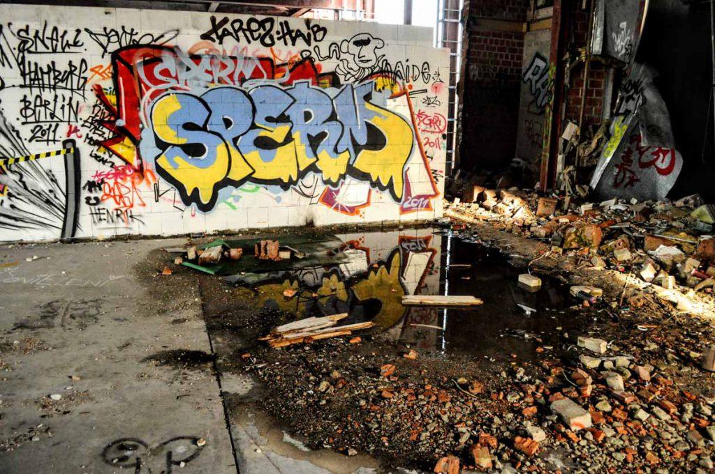 Verlassene Abhörstation auf dem Teufelsberg in Berlin
