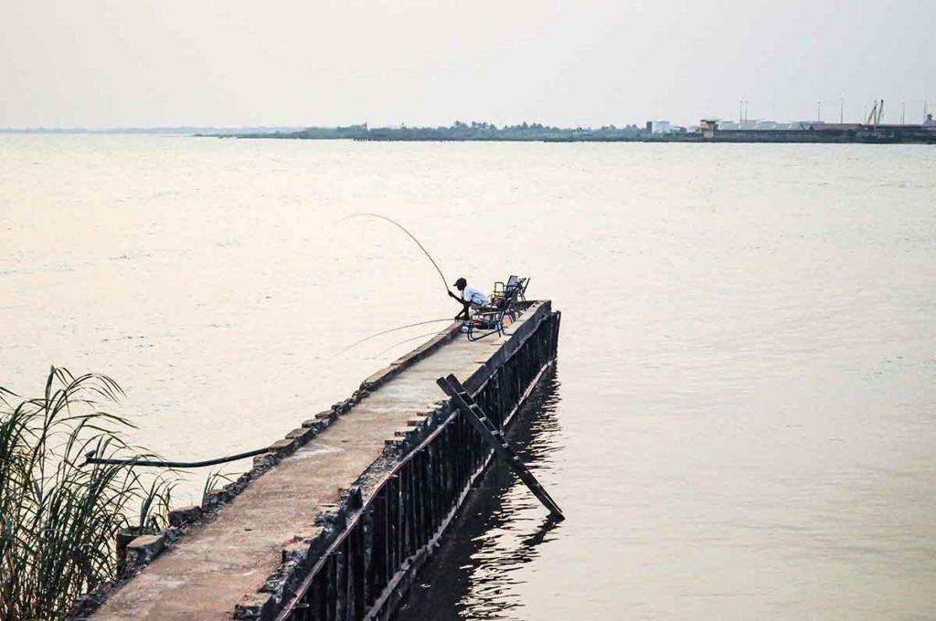 Angler am Tanganjikasee