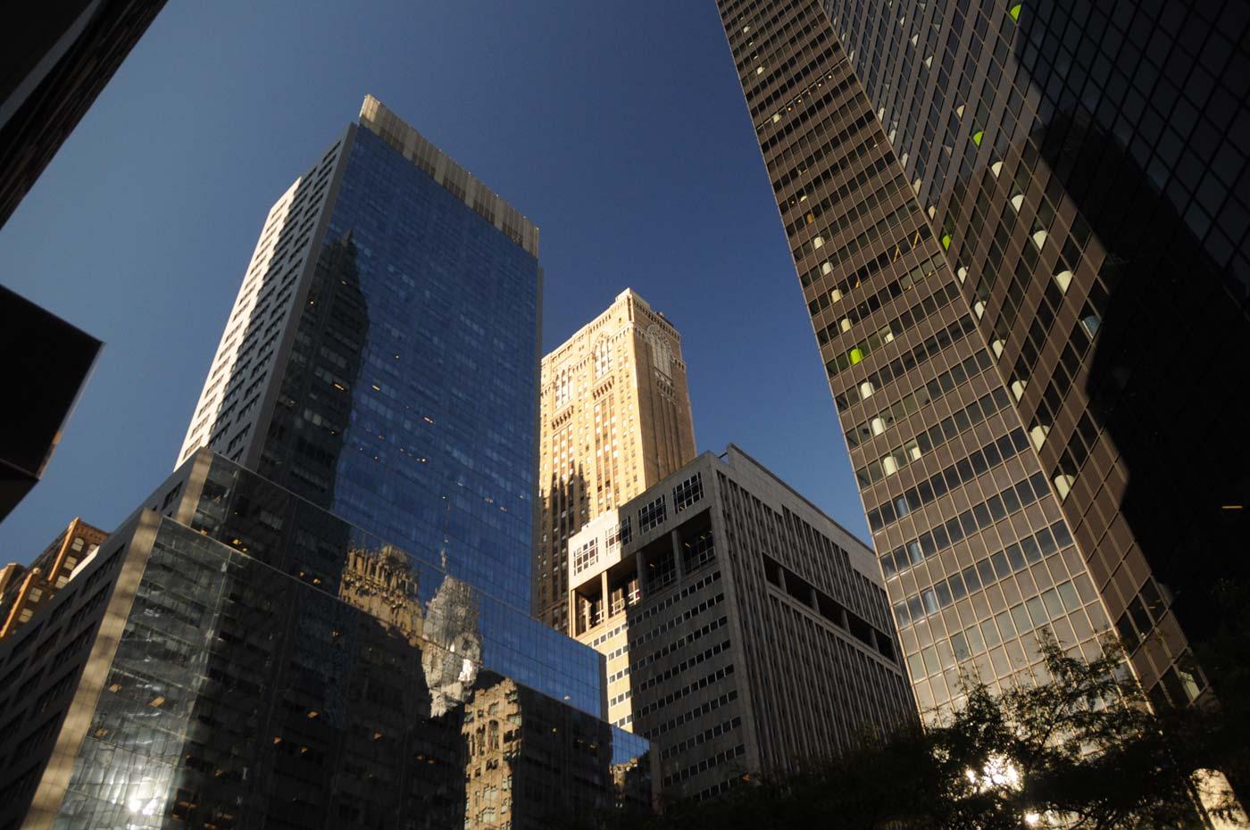 Verschiedene Wolkenkratzer in New York