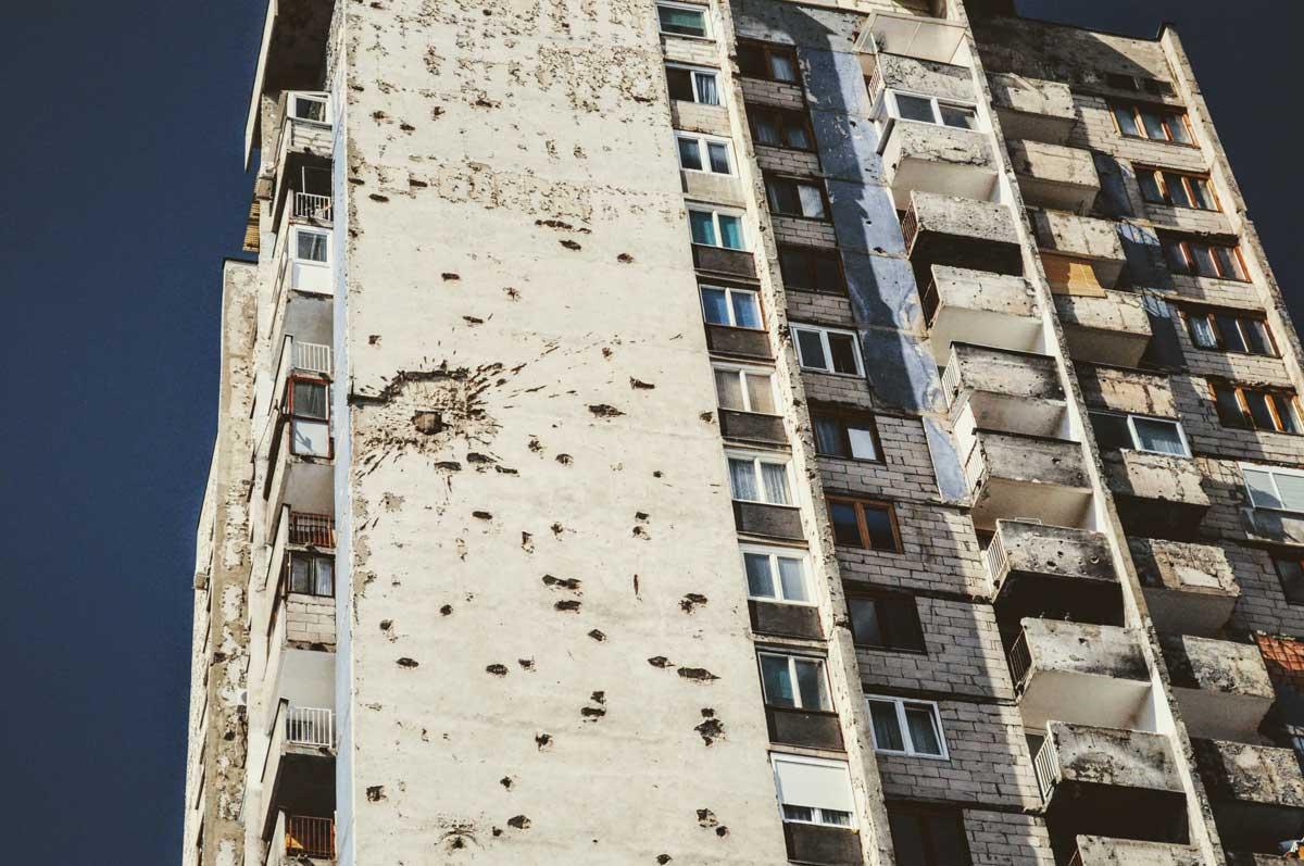 Einschusslöcher in Sarajevo