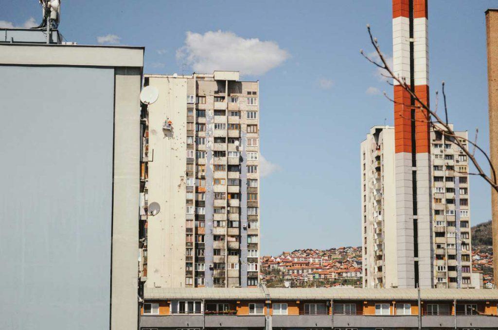 Spuren des Krieges in Sarajevo