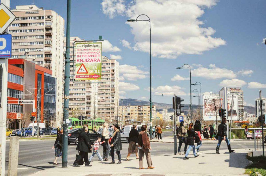 Straße in Sarajevo