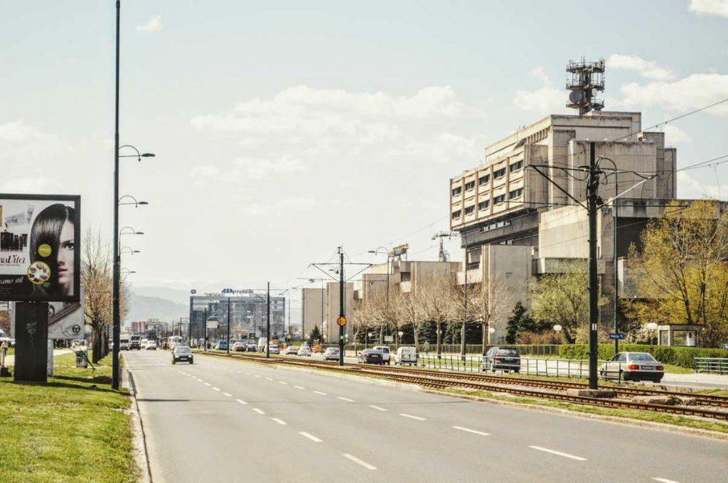 Hauptstraße in Sarajevo
