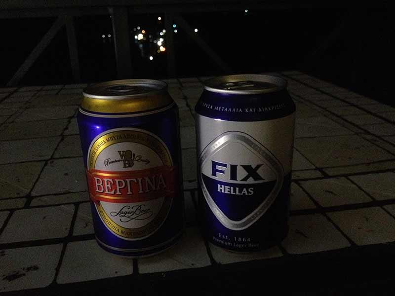 Bier auf Euböa trinken