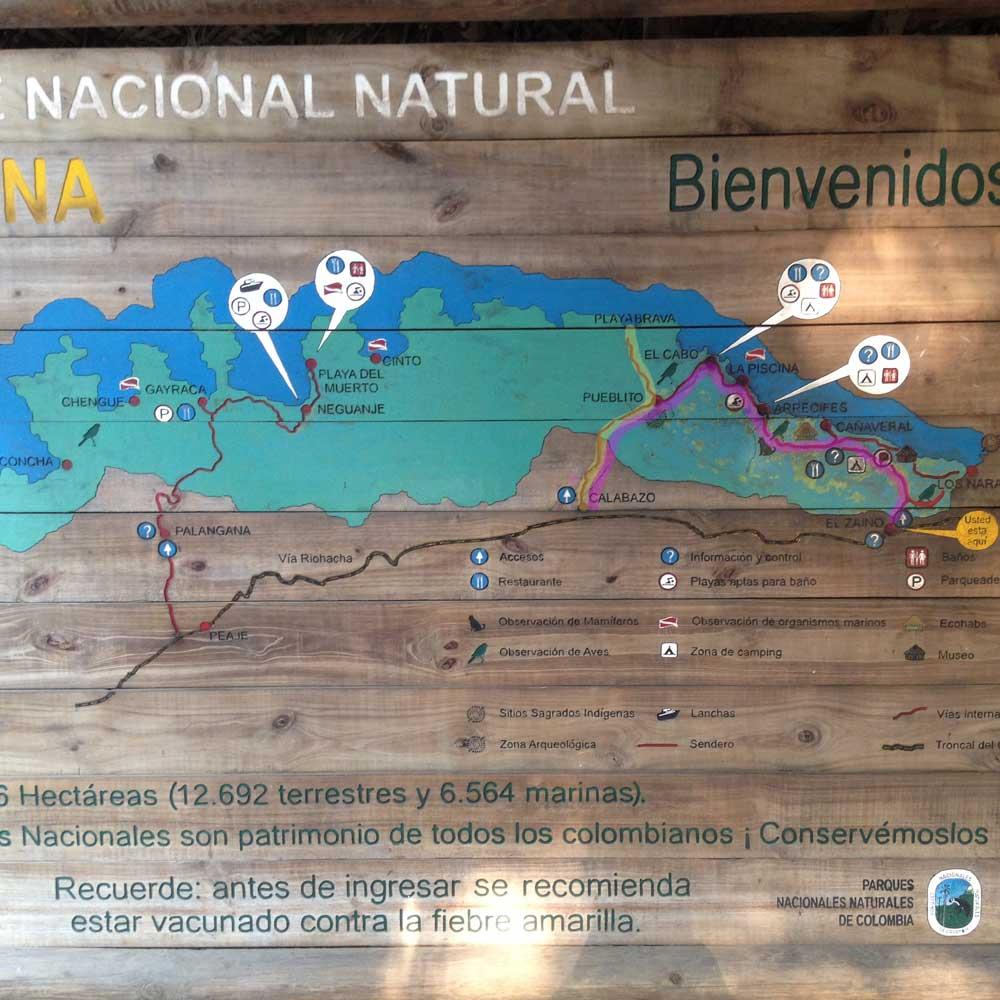 Routen im Tayrona-Nationalpark