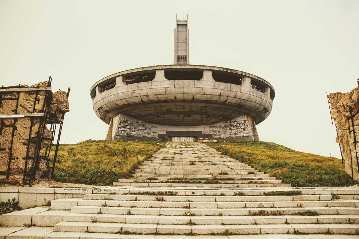 Das Busludscha-Denkmal in Bulgarien