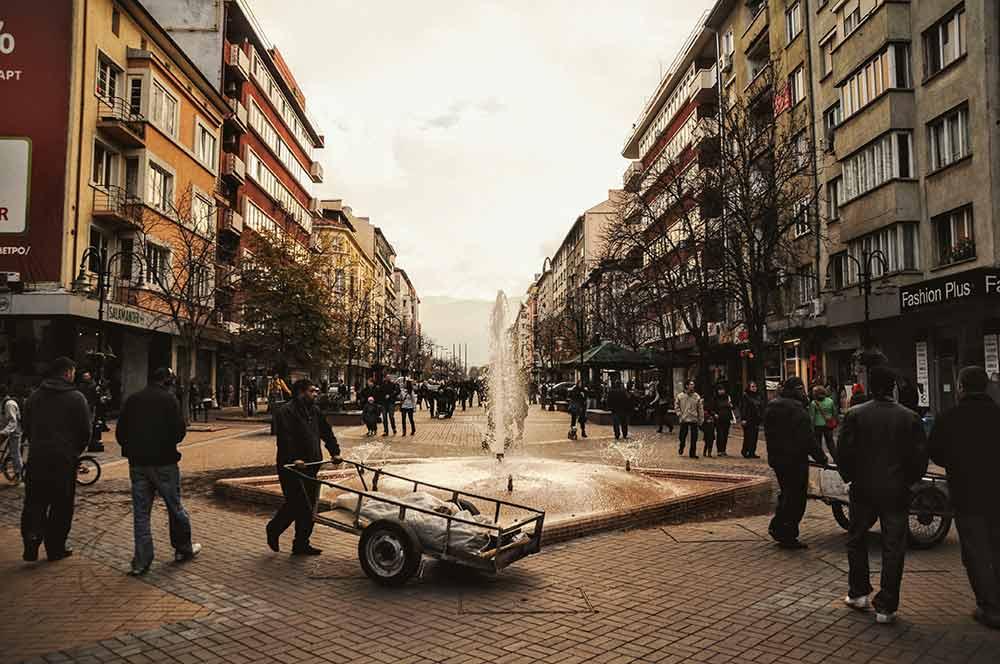 Zentrum von Sofia in Bulgarien