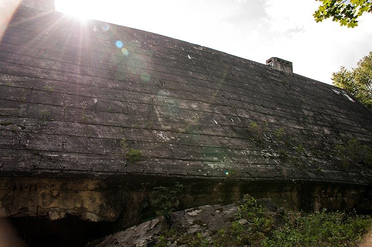 Der Maybach-Bunker hat ein langes Dach