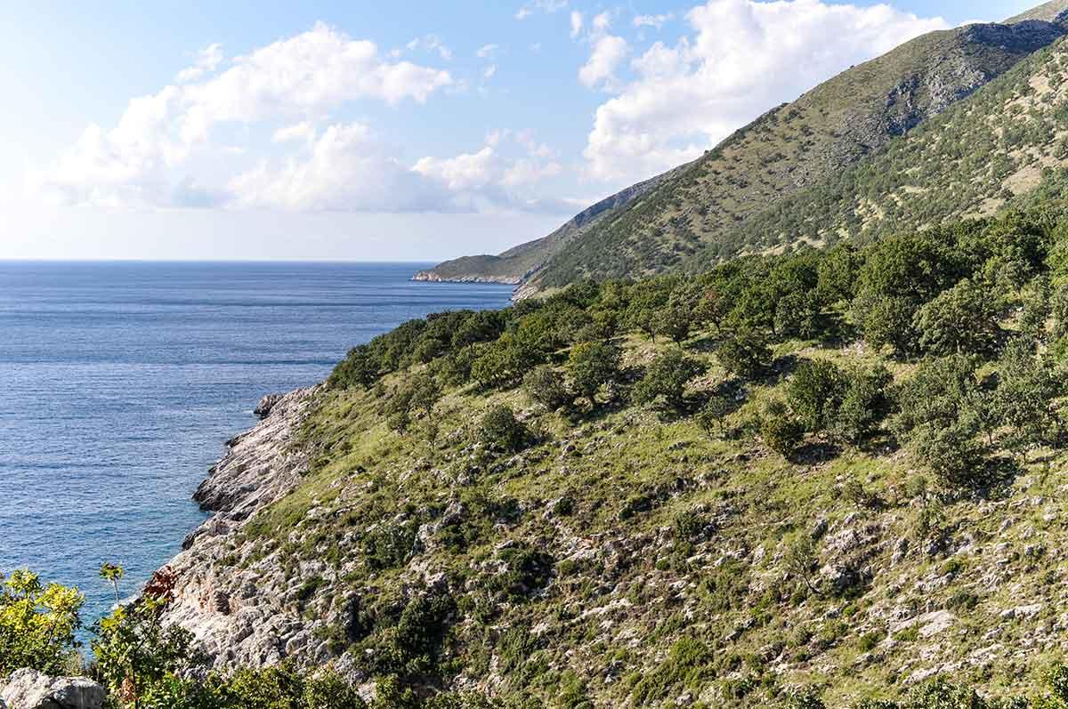 Landschaft südlich der Karaburun-Halbinsel