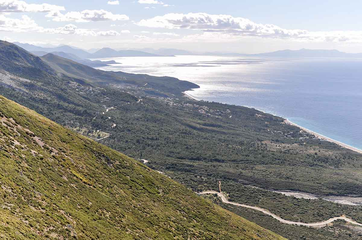 Blick vom Llogara-Pass