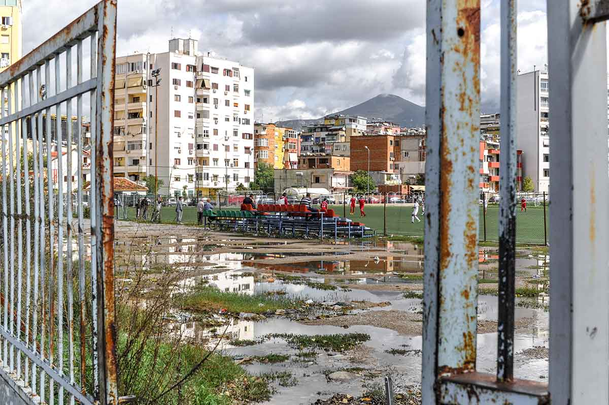 Sportplatz in Tirana