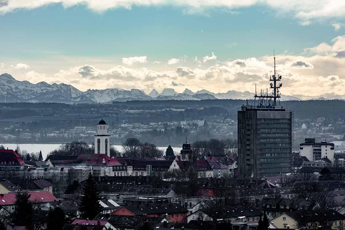 Die Berge hinter Konstanz