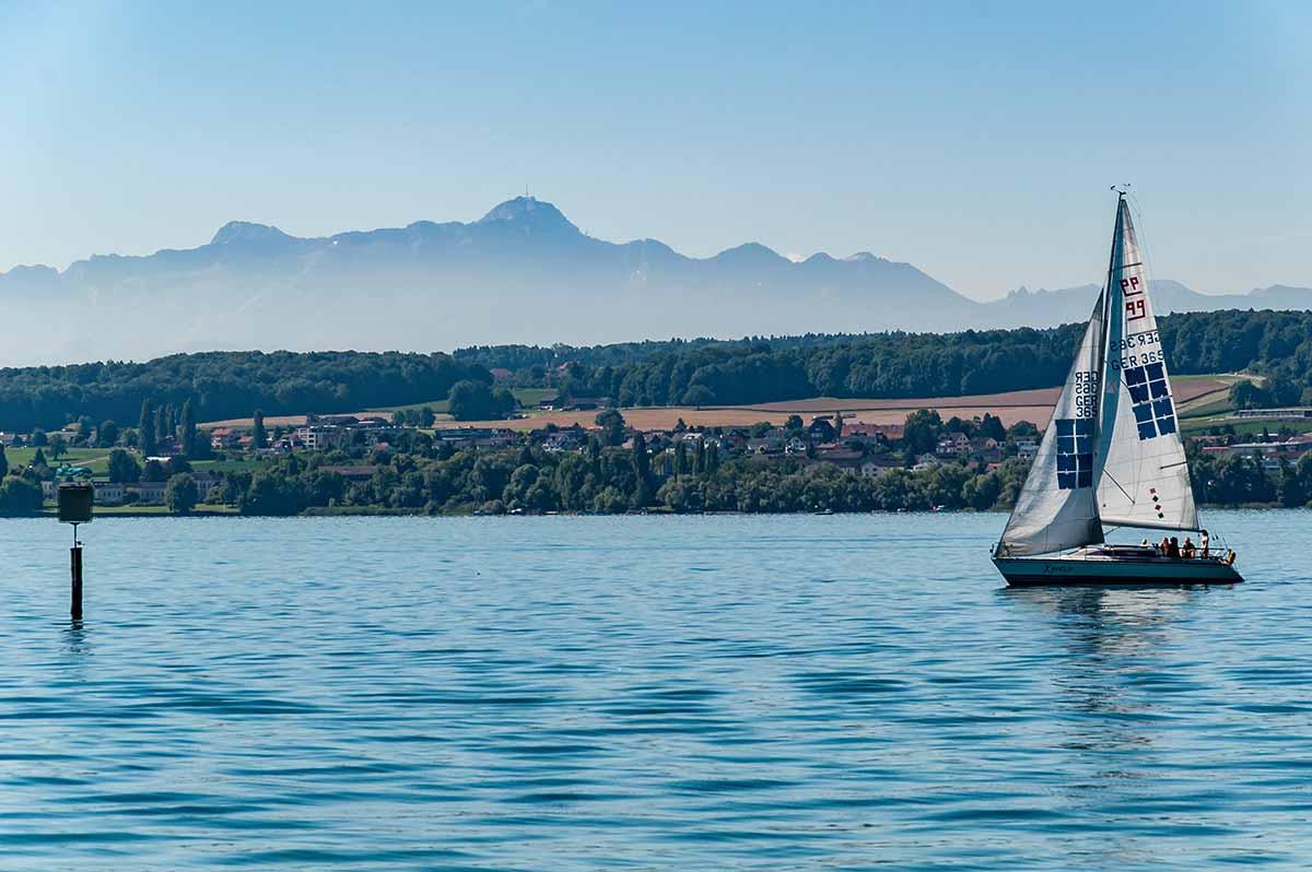 Segelschiff bei Konstanz