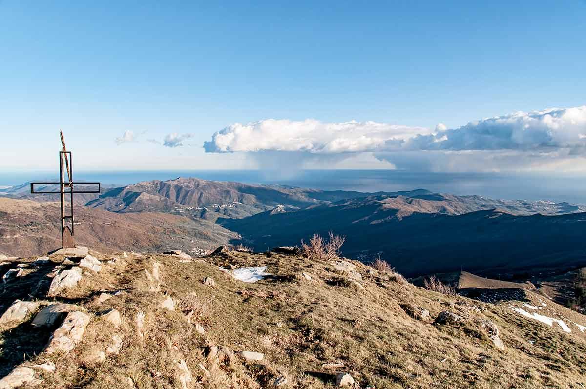 Der Monte Grande in Ligurien