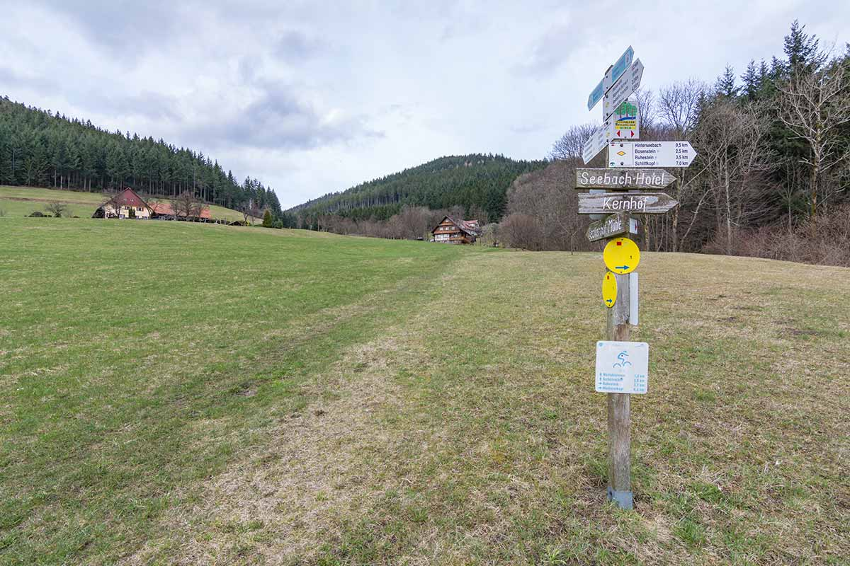 Wegweiser in Seebach