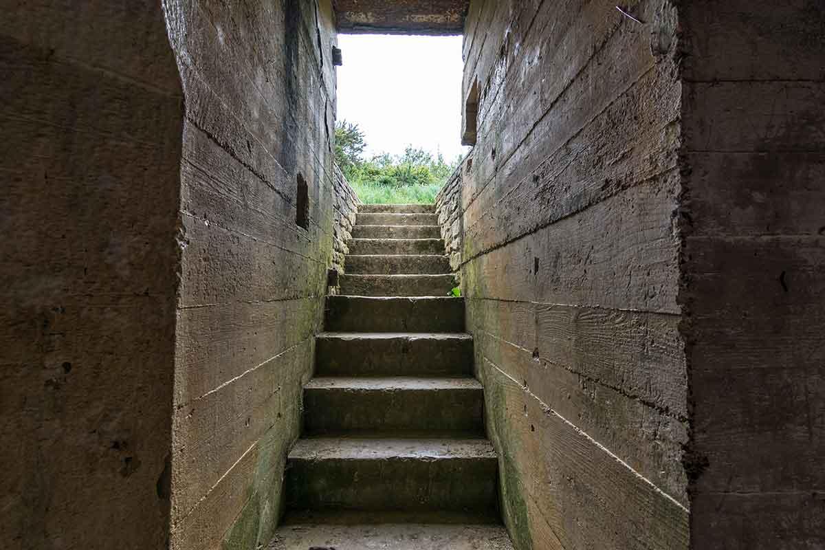 Pointe du Hoc - Festung aus Beton 12