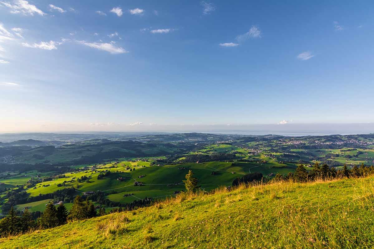 Blick von der Hundwiler Höhe Richtung Bodensee